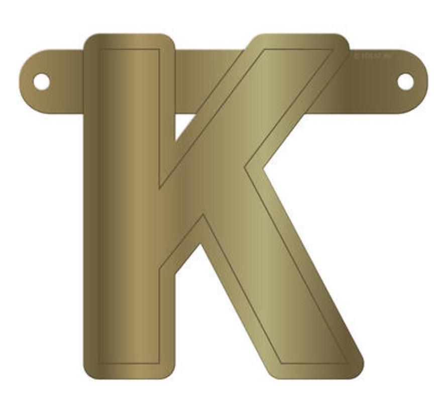 Letterslinger K Metallic Goud