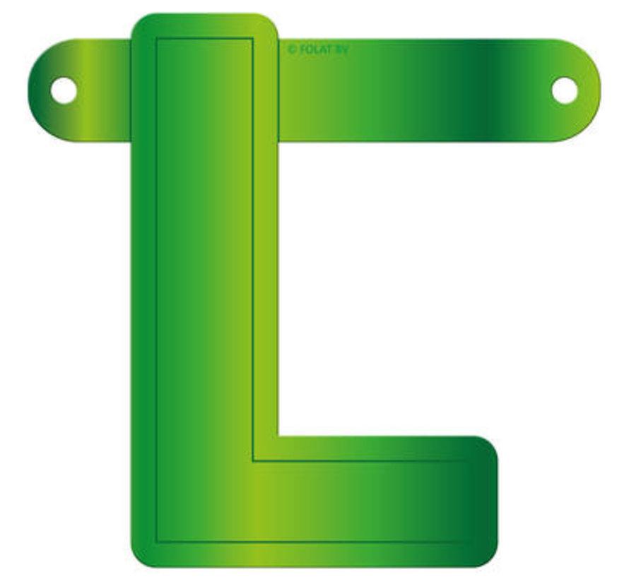 Letterslinger L Lime Groen
