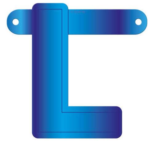 Letterslinger L Blauw