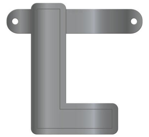 Letterslinger L Metallic Zilver