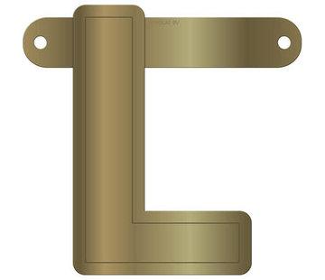 Letterslinger L Metallic Goud