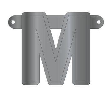 Letterslinger M Metallic Zilver
