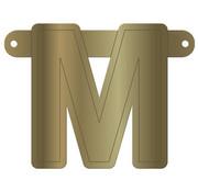 Letterslinger M Metallic Goud