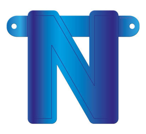 Letterslinger N Blauw