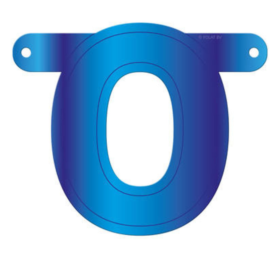 Letterslinger O Blauw
