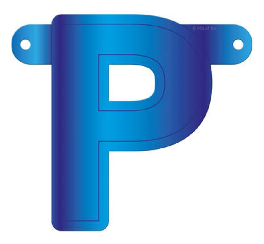 Letterslinger P Blauw