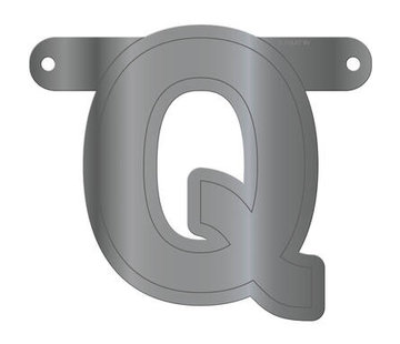 Letterslinger Q Metallic Zilver