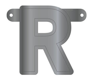 Letterslinger R Metallic Zilver