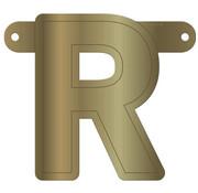 Letterslinger R Metallic Goud