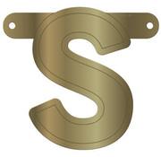 Letterslinger S Metallic Goud