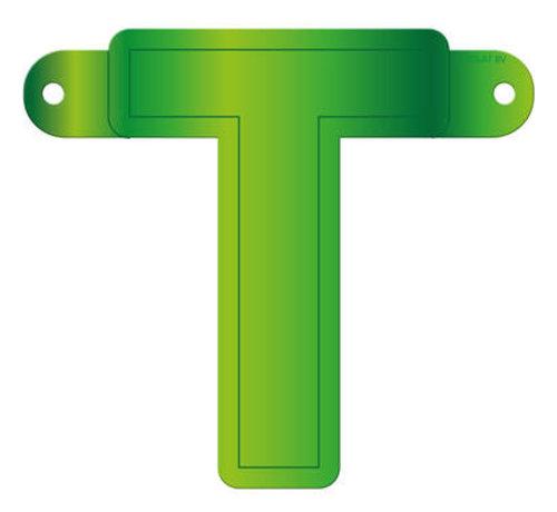 Letterslinger T Lime Groen