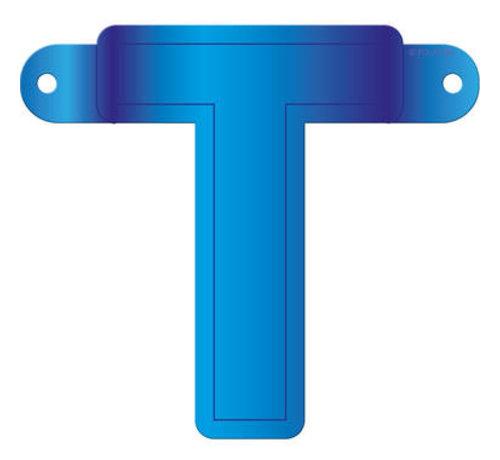 Letterslinger T Blauw
