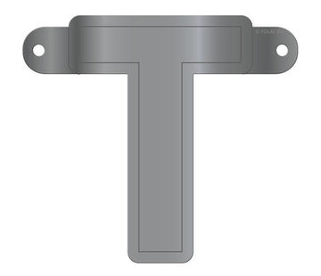 Letterslinger T Metallic Zilver