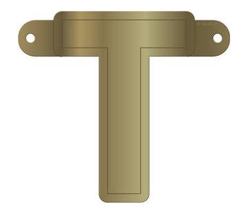 Letterslinger T Metallic Goud