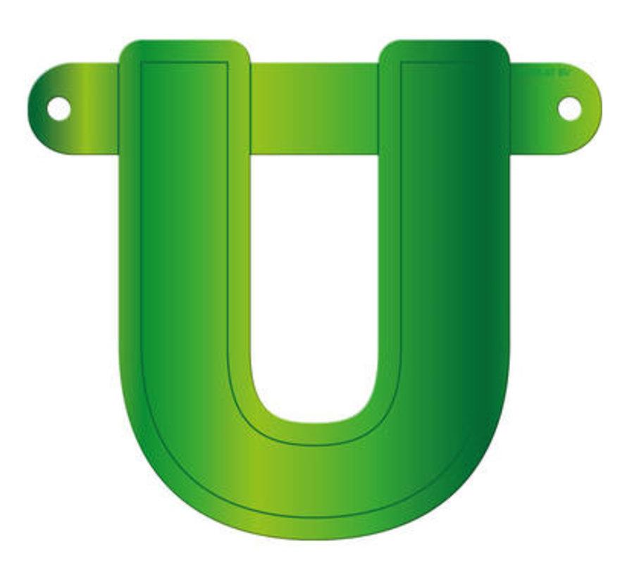 Letterslinger U Lime Groen