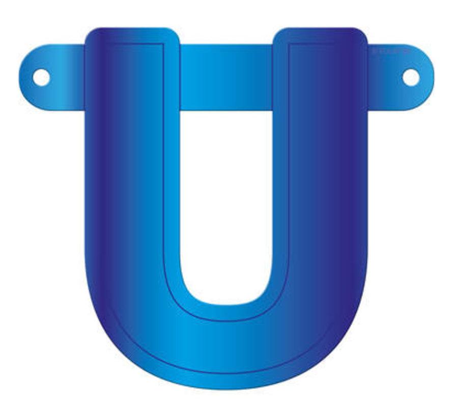 Letterslinger U Blauw