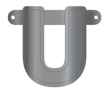 Letterslinger U Metallic Zilver