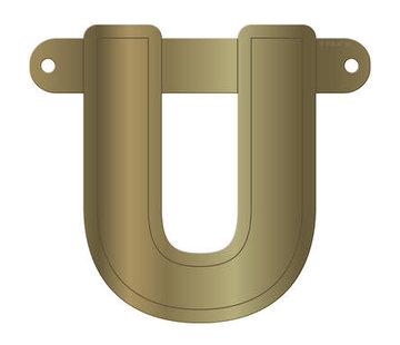Letterslinger U Metallic Goud