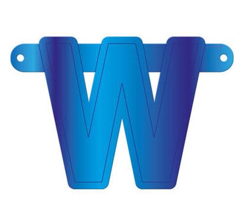 Letterslinger W Blauw