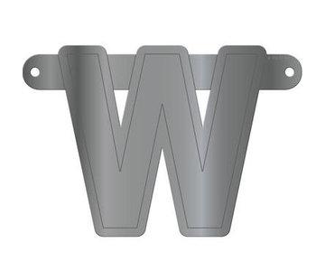 Letterslinger W Metallic Zilver