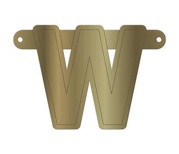 Letterslinger W Metallic Goud
