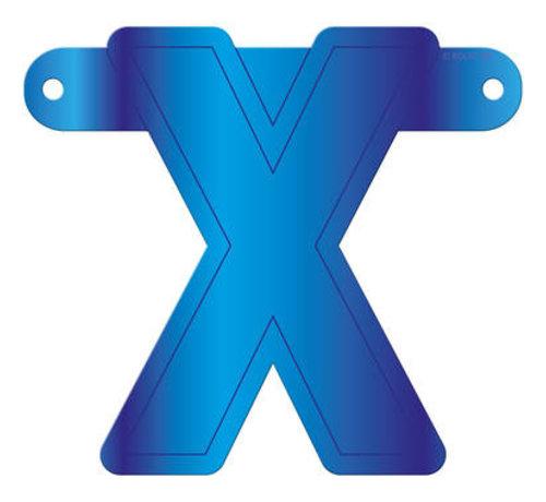 Letterslinger X Blauw