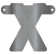 Letterslinger X Metallic Zilver