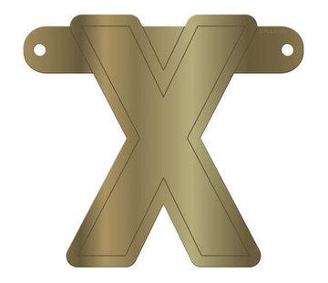 Letterslinger X Metallic Goud