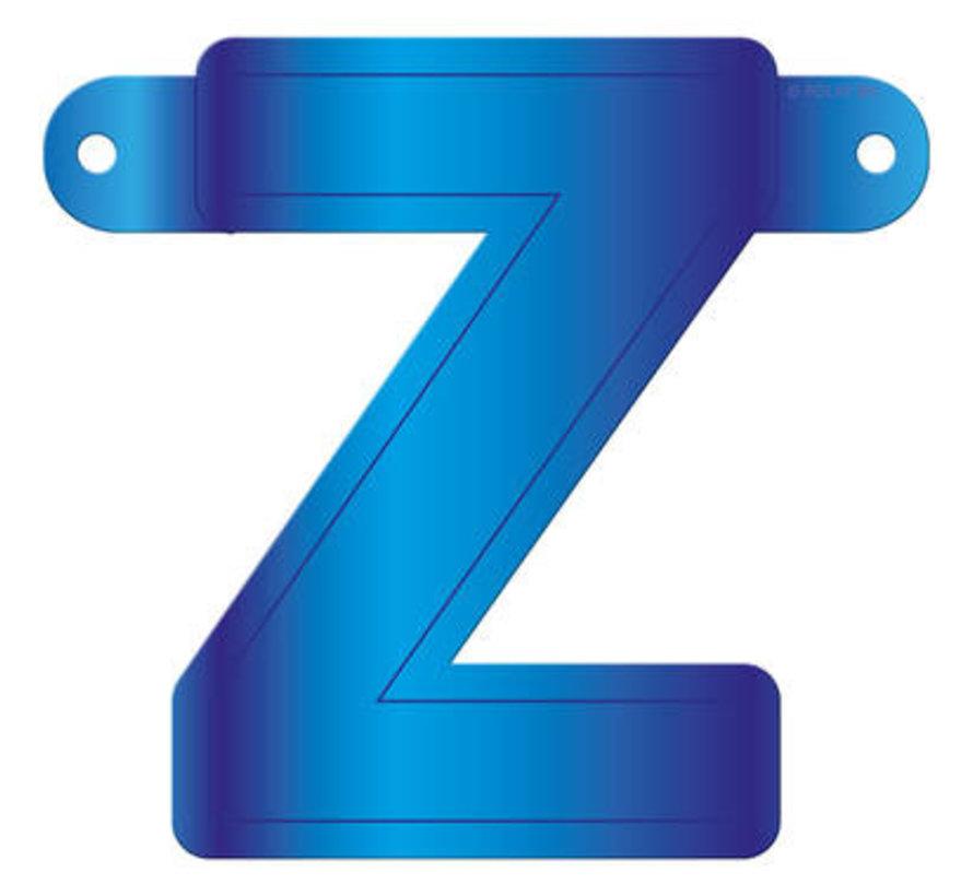 Letterslinger Z Blauw