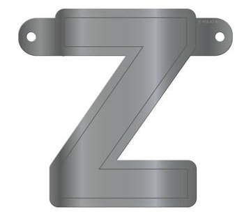 Letterslinger Z Metallic Zilver