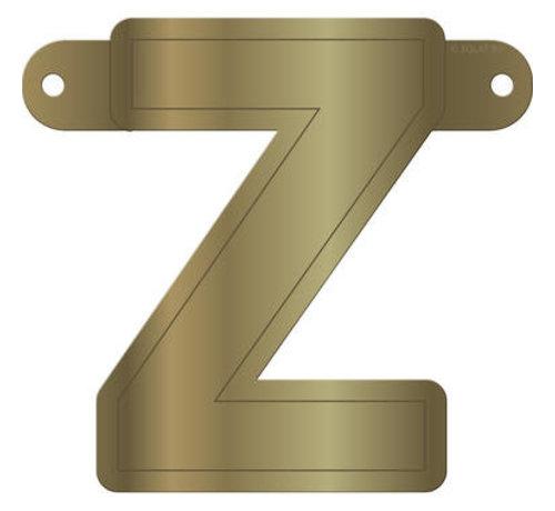Letterslinger Z Metallic Goud