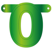 Letterslinger 0 Lime Groen