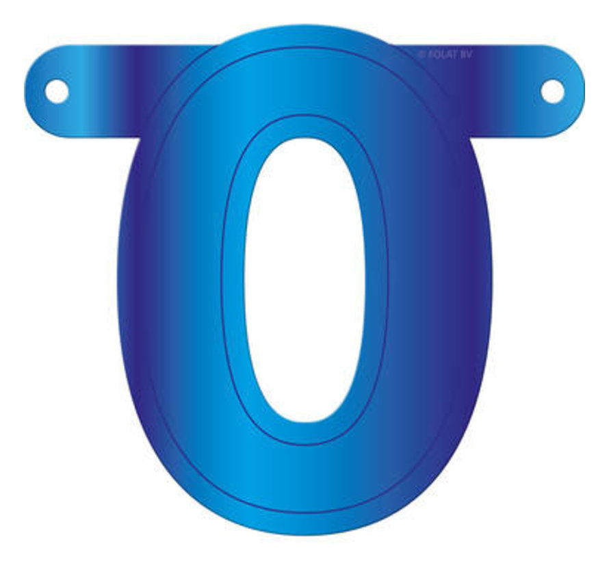 Letterslinger 0 Blauw