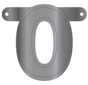 Letterslinger 0 Metallic Zilver