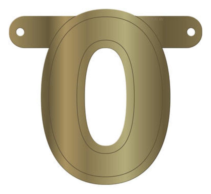Letterslinger 0 Metallic Goud
