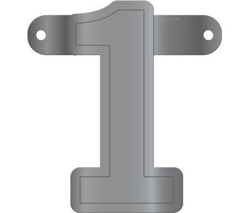 Letterslinger 1 Metallic Zilver
