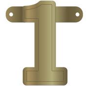 Letterslinger 1 Metallic Goud