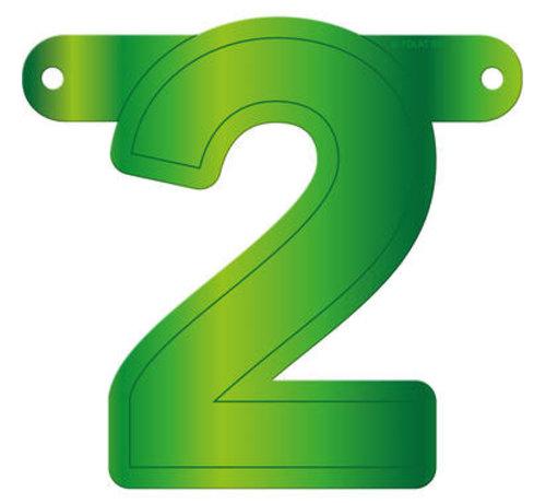 Letterslinger 2 Lime Groen