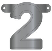 Letterslinger 2 Metallic Zilver