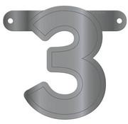 Letterslinger 3 Metallic Zilver