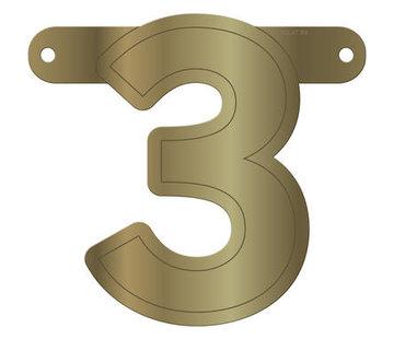 Letterslinger 3 Metallic Goud