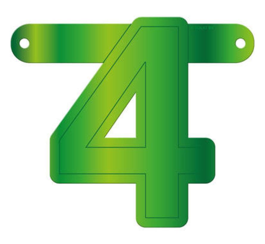Letterslinger 4 Lime Groen