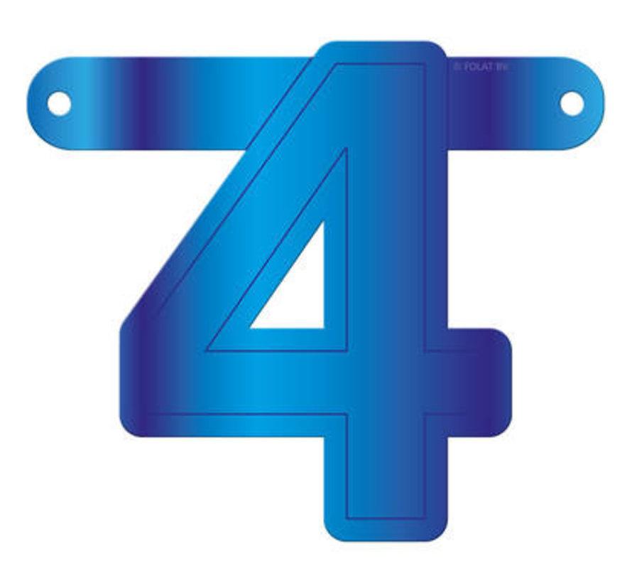 Letterslinger 4 Blauw
