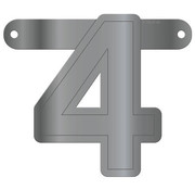 Letterslinger 4 Metallic Zilver