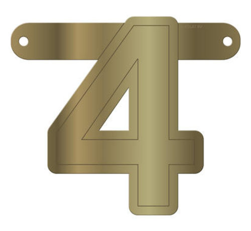 Letterslinger 4 Metallic Goud