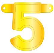 Letterslinger 5 Geel