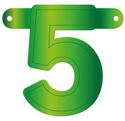 Letterslinger 5 Lime Groen