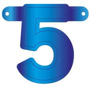Letterslinger 5 Blauw