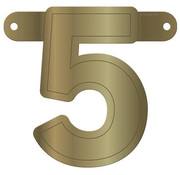 Letterslinger 5 Metallic Goud