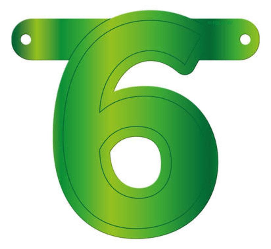 Letterslinger 6 Lime Groen